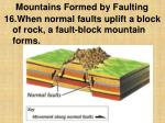 mountains formed by faulting