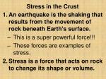 stress in the crust
