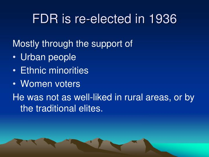 FDR is re-elected in 1936