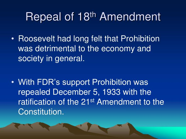 Repeal of 18