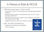 a nation at risk nclb