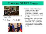 the new start treaty