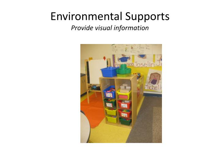 Environmental Supports