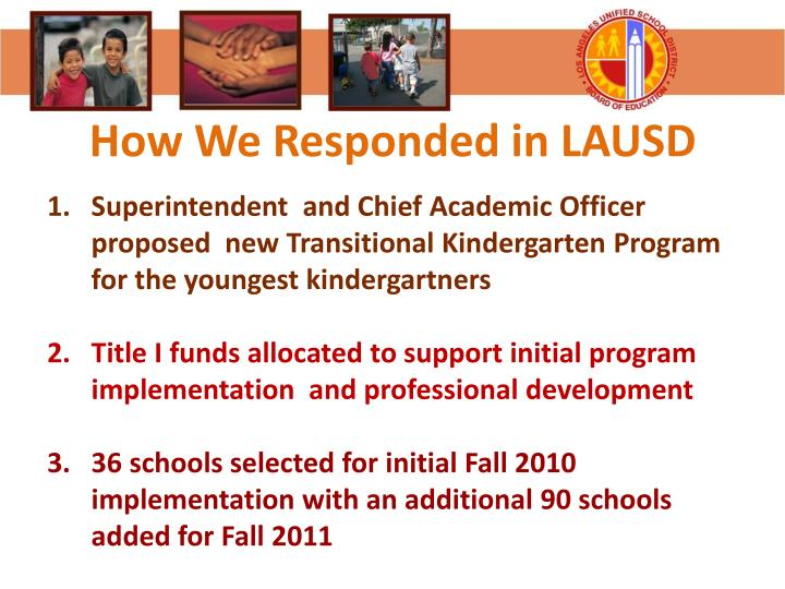 How We Responded in LAUSD
