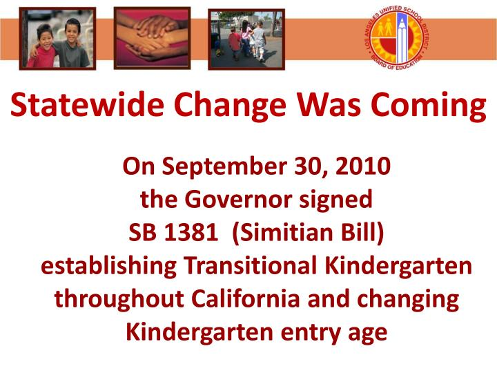 Statewide Change Was Coming