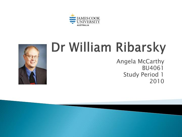 dr william ribarsky n.