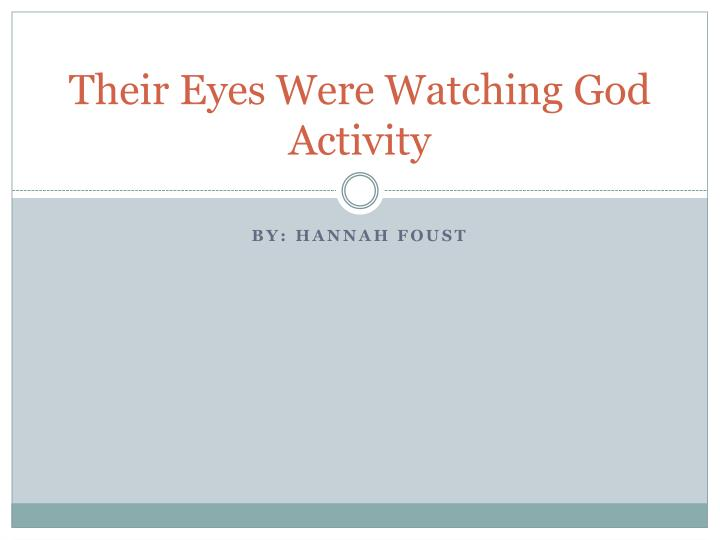 their eyes were watching god activity n.