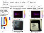 ibsimu power density plots of electron dump