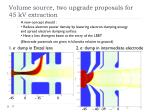 volume source two upgrade proposals for 45 kv extraction
