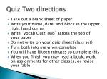 quiz two directions