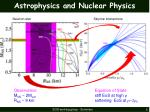 astrophysics and nuclear physics