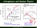astrophysics and nuclear physics1