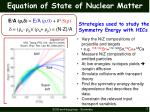equation of state of nuclear matter