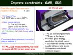 improve constraints gmr gdr