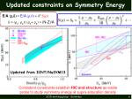 updated constraints on symmetry energy