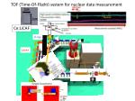 tof time of flight system for nuclear data measurement