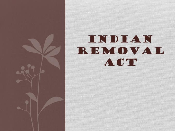indian removal act n.