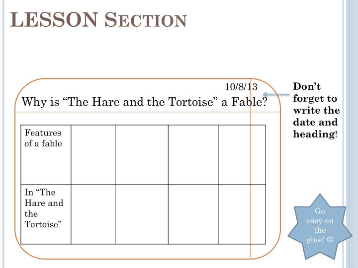 LESSON Section