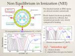 non equilibrium in ionization nei