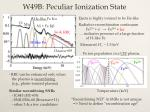 w49b peculiar ionization state