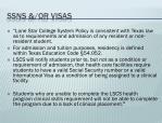 ssns or visas