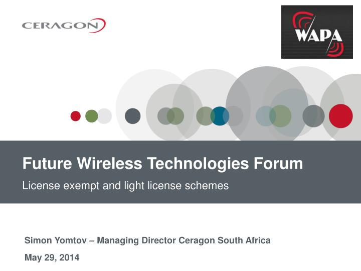 future wireless technologies forum n.