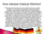 inne ciekawe tradycje niemiec