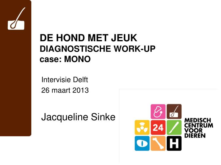 de hond met jeuk diagnostische work up case mono n.