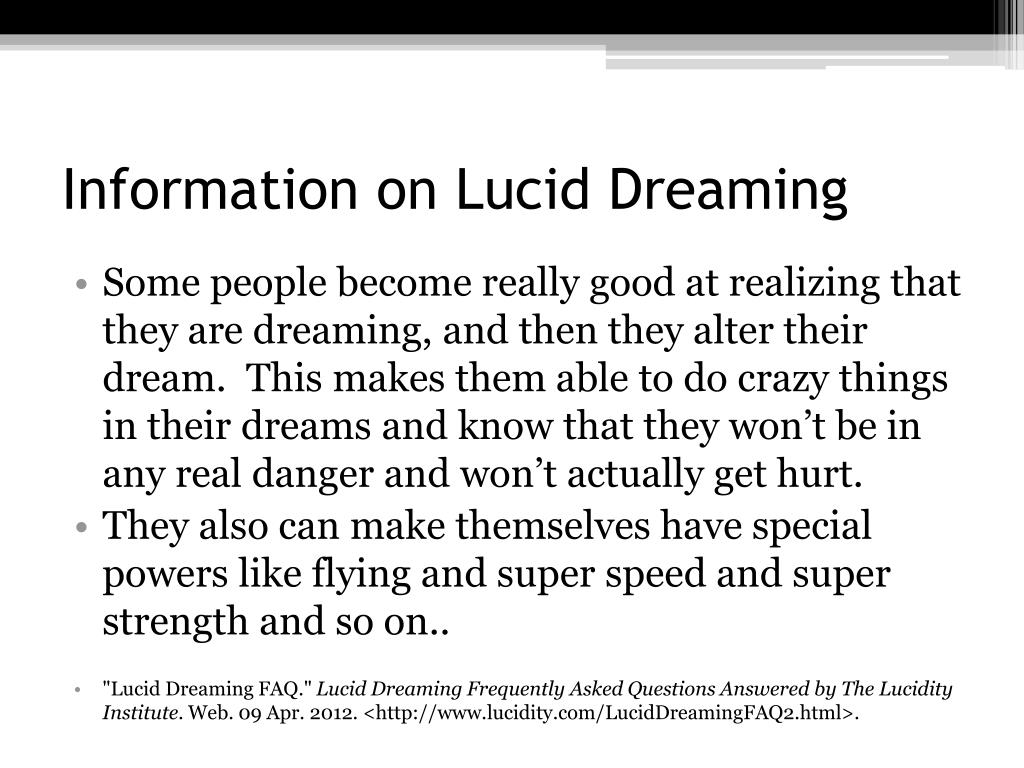 PPT - Lucid Dreaming PowerPoint Presentation - ID:2073741