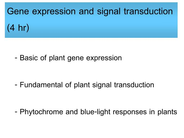 Gene expression and signal transduction