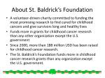 about st baldrick s foundation