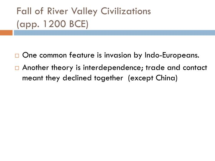 Fall of River Valley