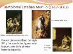 bartolom esteban murillo 1617 1682