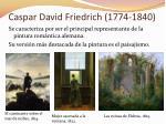 caspar david friedrich 1774 1840