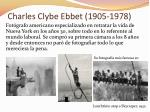 charles clybe ebbet 1905 1978