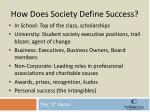 how does society define success