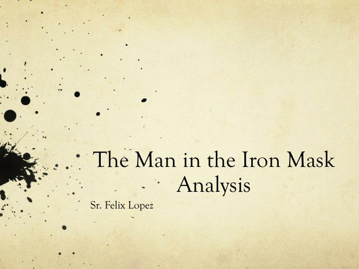 the man in the iron mask analysis n.