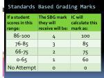 standards based grading marks