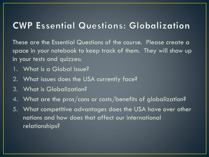 costs benefits globalization essay This entry was posted in essays on october 24, 2015 by custom-essay post navigation ← answer the question below, and must use the discussion rubric and discussion tips that i uploaded as your writing guidelines.