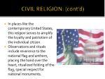 civil religion cont d