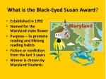 what is the black eyed susan award