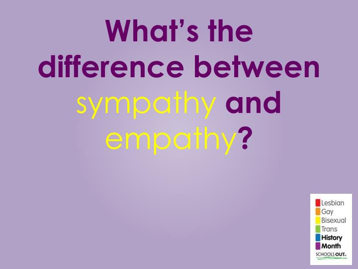 what s the difference between sympathy and empathy n.