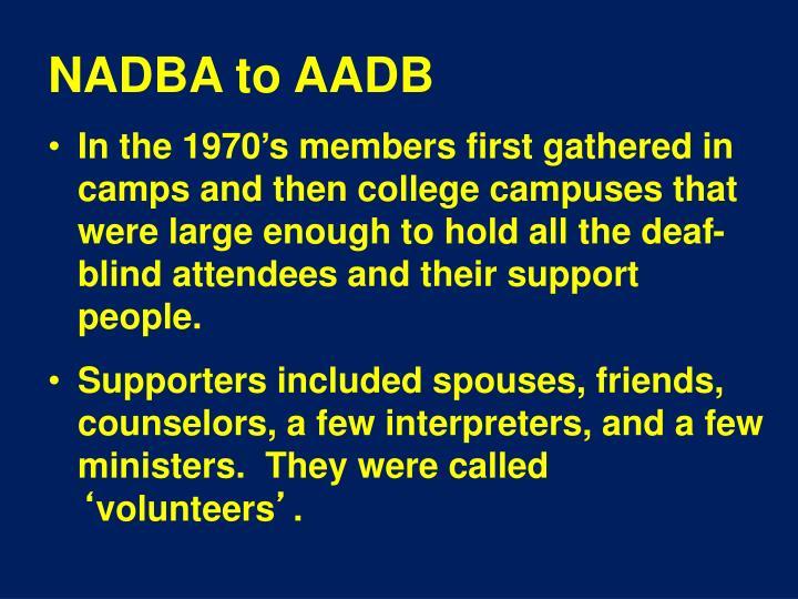 NADBA to AADB
