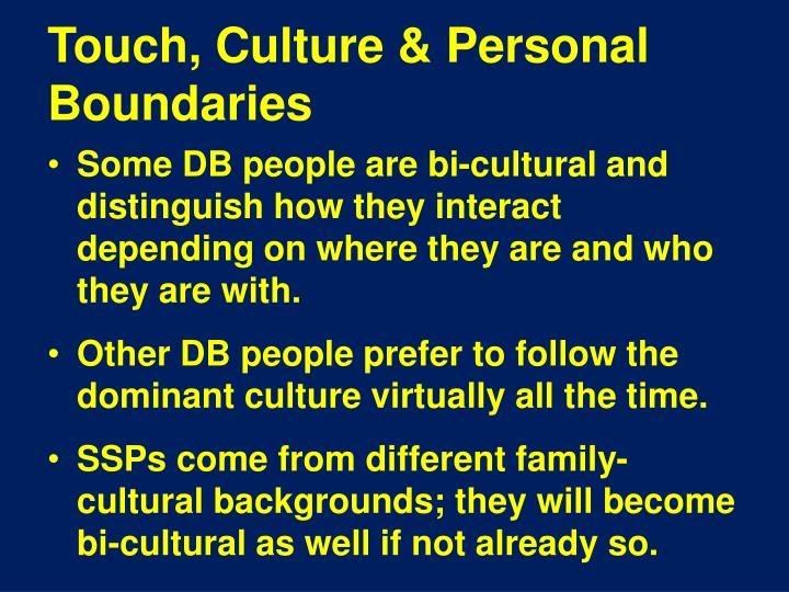 Touch, Culture & Personal Boundaries