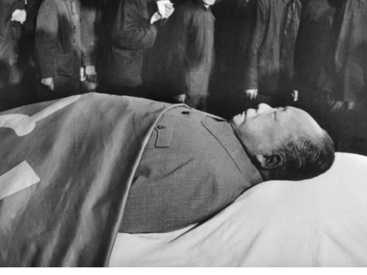 What changes after Mao dies?