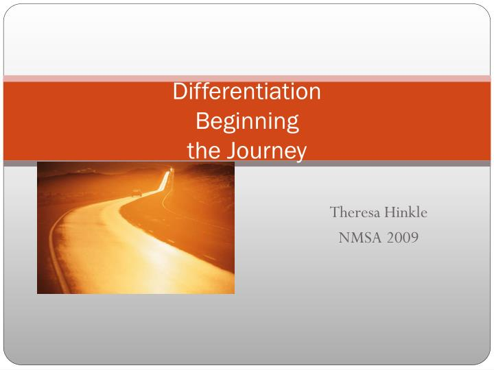 differentiation beginning the journey n.