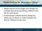 media queries for responsive design