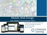 mobile web design with adobe dreamweaver cs5 5