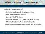 what is adobe dreamweaver