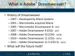 what is adobe dreamweaver1